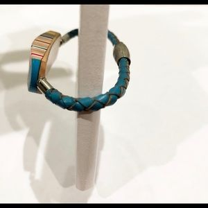 Jewelry - Handmade leather and wood bracelet
